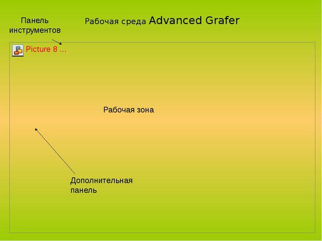Панель инструментов Дополнительная панель Рабочая зона Рабочая среда Advanced...