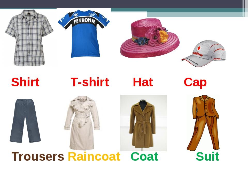 Shirt T-shirt Hat Cap Trousers Raincoat Coat Suit