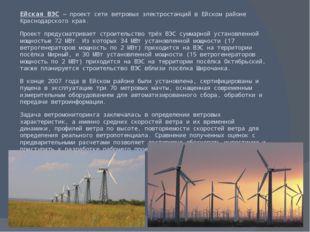Ейская ВЭС— проект сети ветровых электростанций в Ейском районе Краснодарско