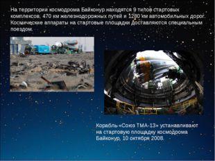 На территории космодрома Байконур находятся 9 типов стартовых комплексов, 470