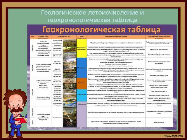 Геологическое летоисчисление и геохронологическая таблица