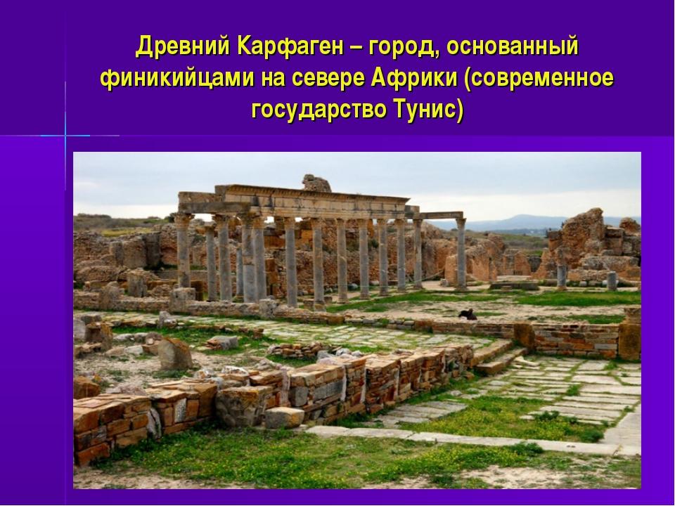 Древний Карфаген – город, основанный финикийцами на севере Африки (современно...