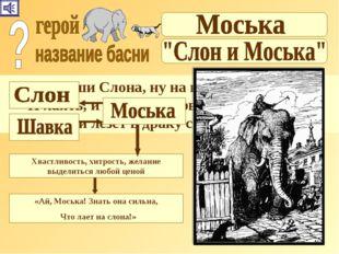« Увидевши Слона, ну на него метаться, И лаять, и визжать, и рваться; Ну так