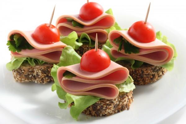 праздничные бутерброды канапе