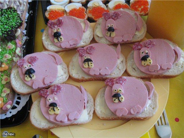 праздничные бутерброды детские собачки