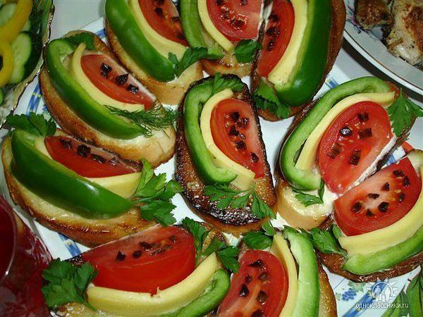 праздничные бутерброды арбузные дольки