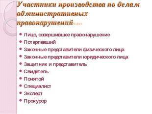 Участники производства по делам административных правонарушений16.docx Лицо,
