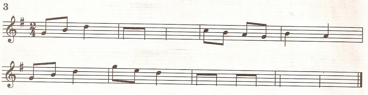 Досочинить мелодию 1 класс № 3