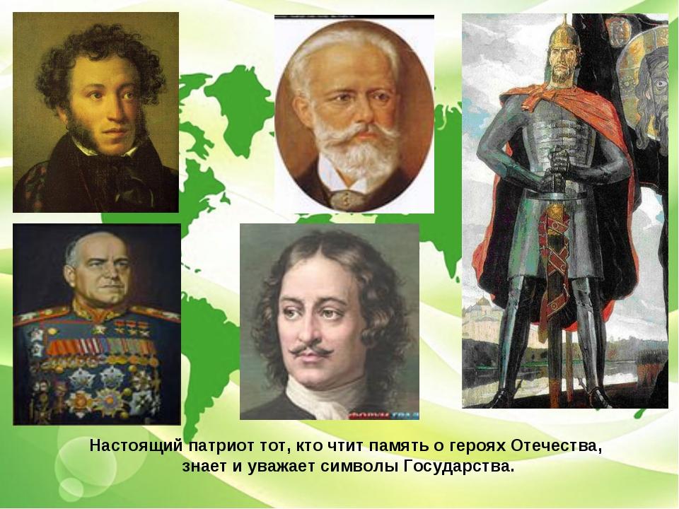 Настоящий патриот тот, кто чтит память о героях Отечества, знает и уважает си...