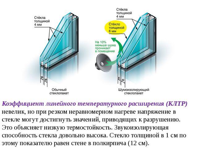 Коэффициент линейного температурного расширения (КЛТР) невелик, но при резком...