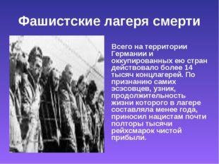 Фашистские лагеря смерти Всего на территории Германии и оккупированных ею стр