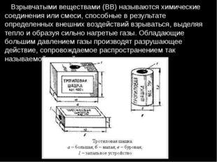 Взрывчатыми веществами (ВВ) называются химические соединения или смеси, спос