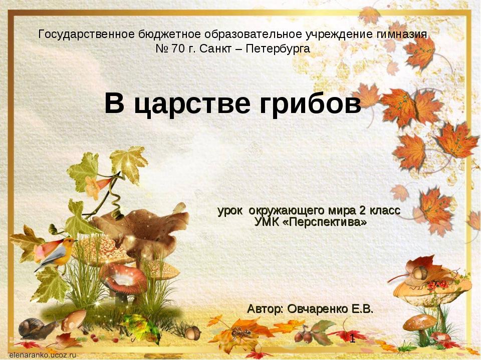 Государственное бюджетное образовательное учреждение гимназия № 70 г. Санкт –...