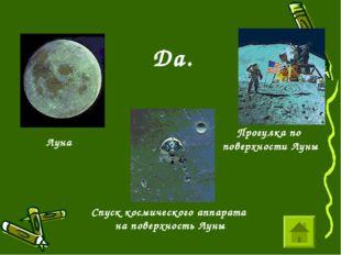 Да. Спуск космического аппарата на поверхность Луны Луна Прогулка по поверхно