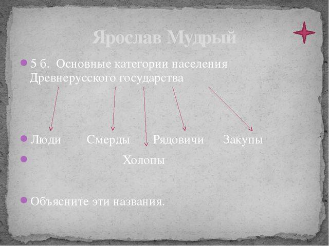 1 б. Ярослав Мудрый пришел к власти в результате усобицы. Что это такое? Борь...
