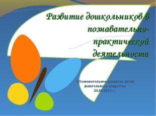 Развитие дошкольников в познавательно-практической деятельности «Познавательн