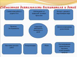 Совместная деятельность воспитателя и детей Совместная деятельность воспитате