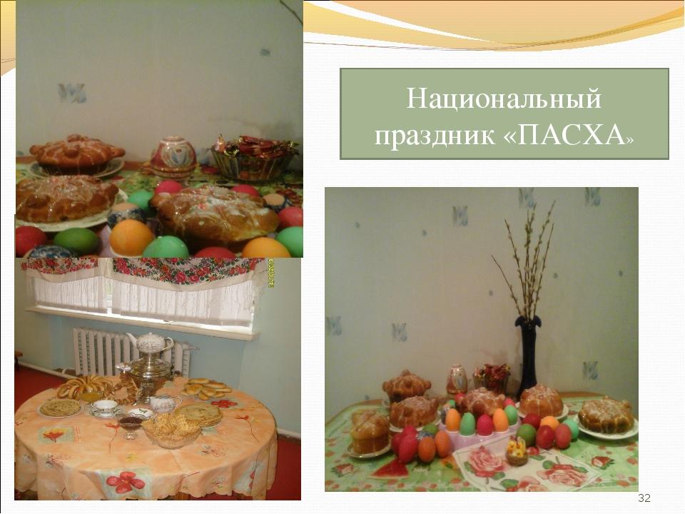 * Национальный праздник «ПАСХА»