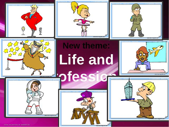 New theme: Life and professions