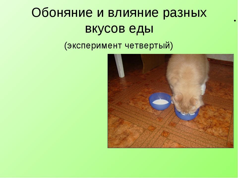 Обоняние и влияние разных вкусов еды (эксперимент четвертый) Обоняние у моего...