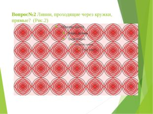 Вопрос№2 Линии, проходящие через кружки, прямые? (Рис.2)