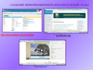 СОЗДАНИЕ ИНФОРМАЦИОННОЙ ОБРАЗОВАТЕЛЬНОЙ СРЕДЫ http://school-collection.edu.ru