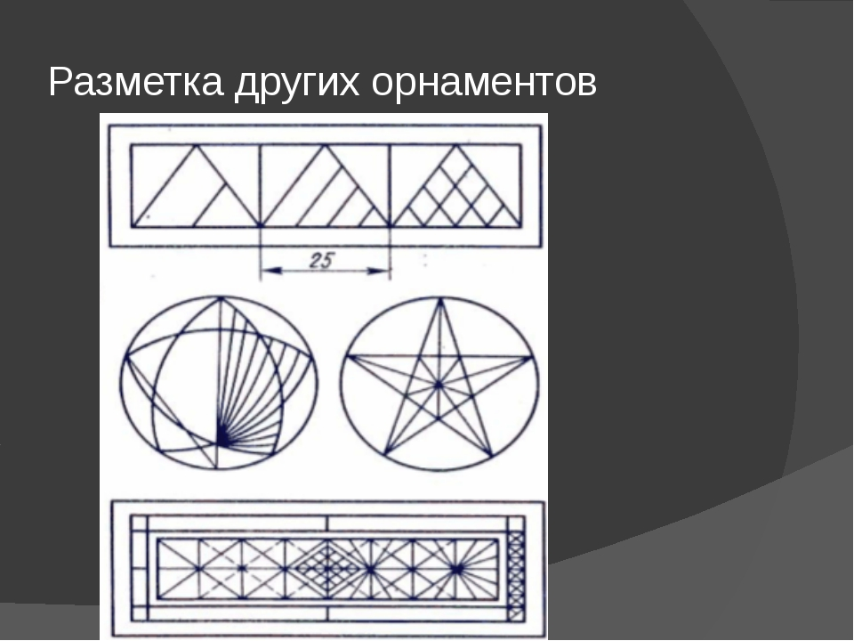 Разметка других орнаментов