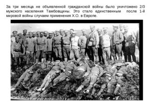 За три месяца не объявленной гражданской войны было уничтожено 2/3 мужского н
