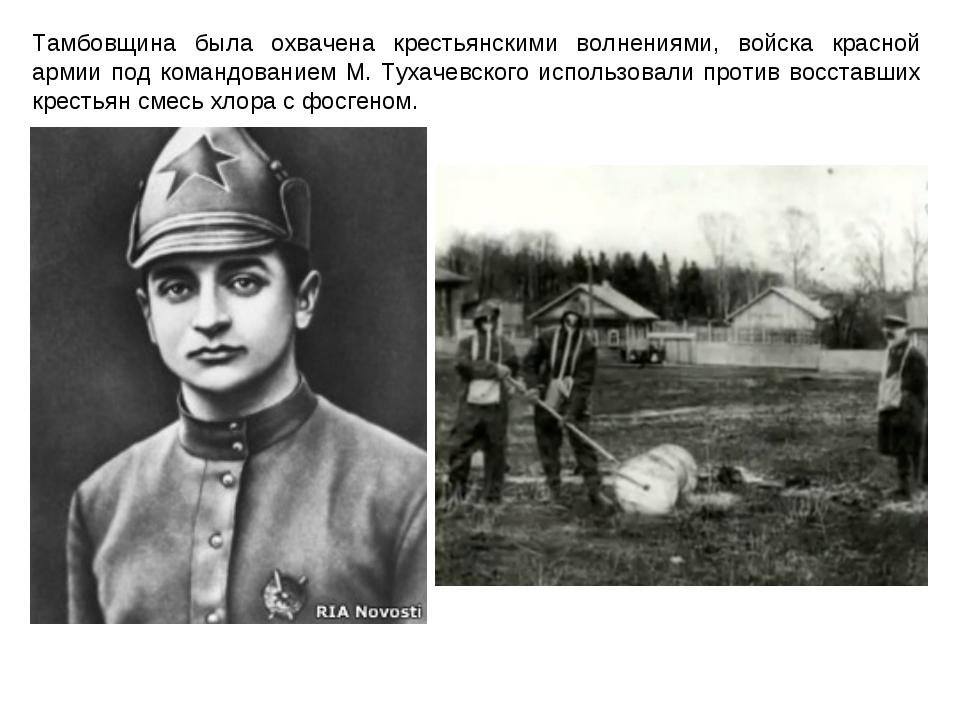 Тамбовщина была охвачена крестьянскими волнениями, войска красной армии под к...