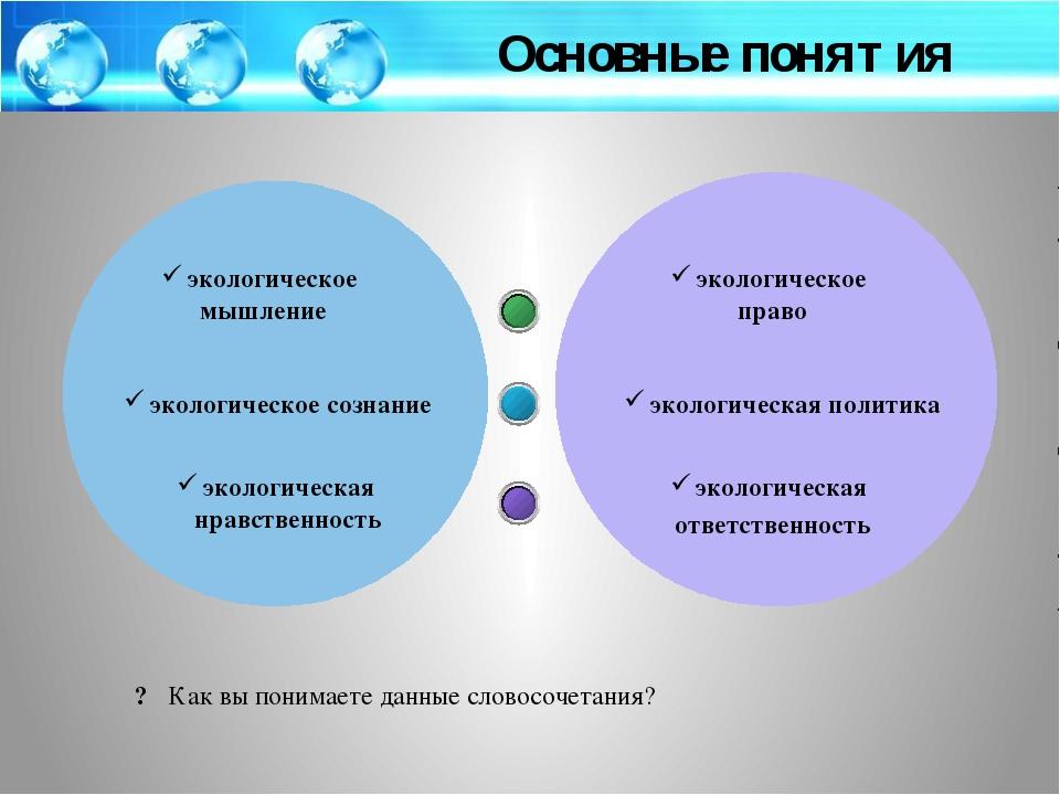 экологическое мышление экологическое сознание экологическая нравственность э...