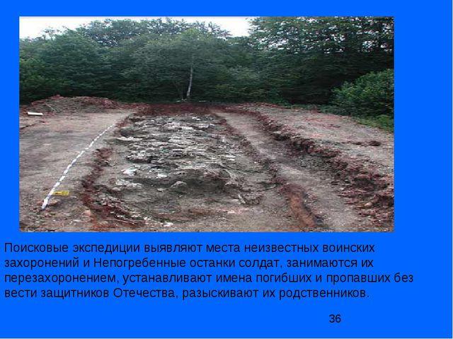 Поисковые экспедиции выявляют места неизвестных воинских захоронений и Непогр...