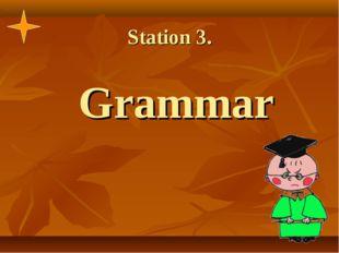 Station 3. Grammar