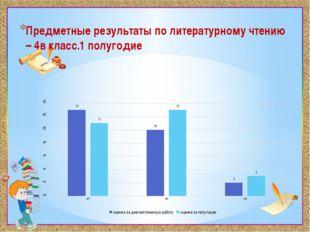 Предметные результаты по литературному чтению – 4в класс.1 полугодие