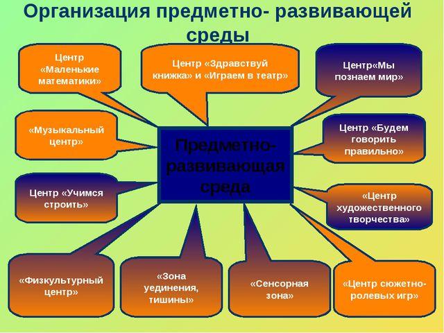 Организация предметно- развивающей среды Предметно- развивающая среда Центр «...