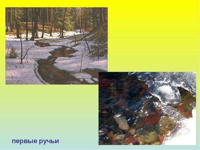 первые ручьи