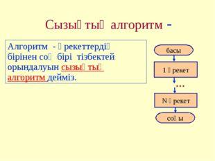 Сызықтық алгоритм - Алгоритм - әрекеттердің бірінен соң бірі тізбектей орында