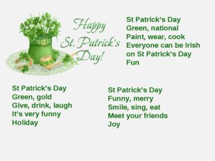 St Patrick's Day Green, national Paint, wear, cook Everyone can be Irish on S