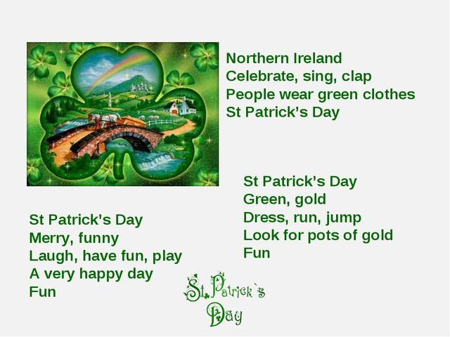 St Patrick's Day Merry, funny Laugh, have fun, play A very happy day Fun Nort...