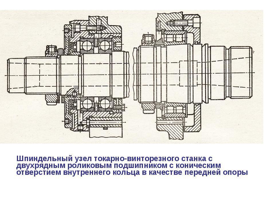 Шпиндельный узел токарно-винторезного станка с двухрядным роликовым подшипни...