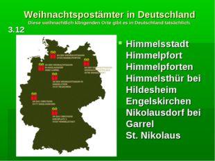 Weihnachtspostämter in Deutschland Diese weihnachtlich klingenden Orte gibt e