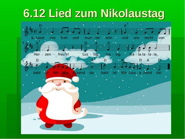6.12 Lied zum Nikolaustag