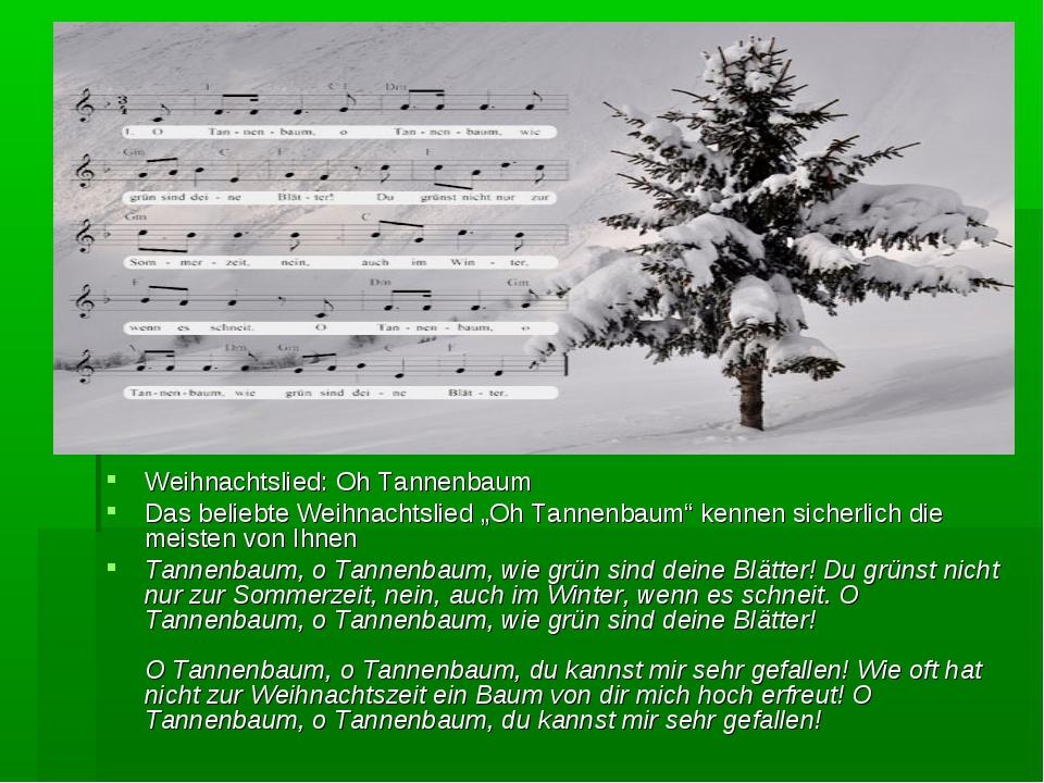 """Weihnachtslied: Oh Tannenbaum Das beliebte Weihnachtslied """"Oh Tannenbaum"""" ken..."""