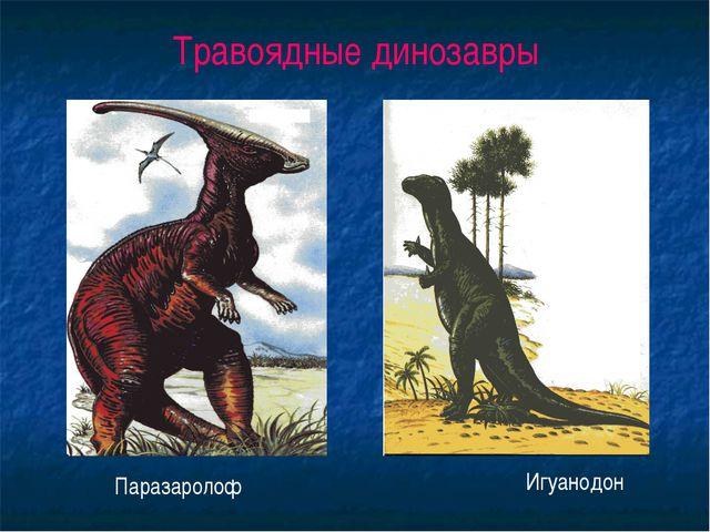 Травоядные динозавры Паразаролоф Игуанодон