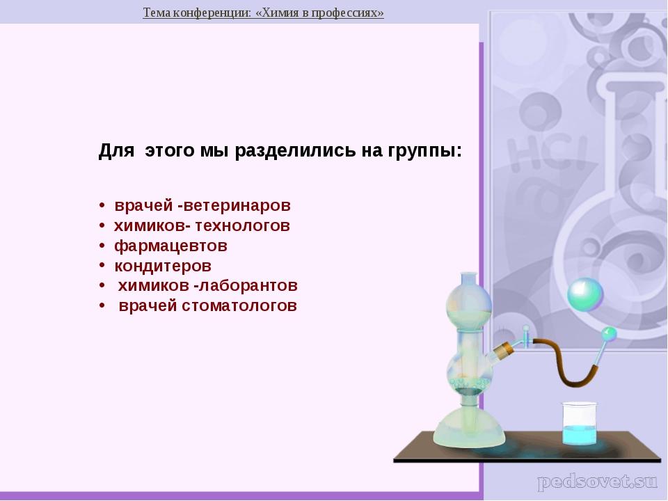 Конкурс презентаций химия в профессиях