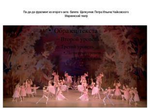Па-де-де фрагмент из второго акта балета Щелкунчик Петра Ильича Чайковского М
