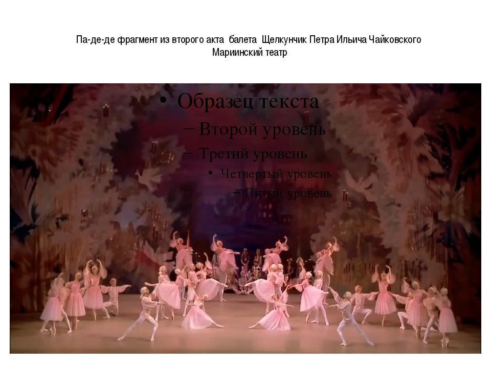 Па-де-де фрагмент из второго акта балета Щелкунчик Петра Ильича Чайковского М...