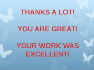 THANKS A LOT! YOU ARE GREAT! YOUR WORK WAS EXCELLENT!
