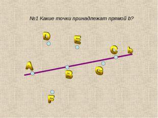 №1 Какие точки принадлежат прямой b?