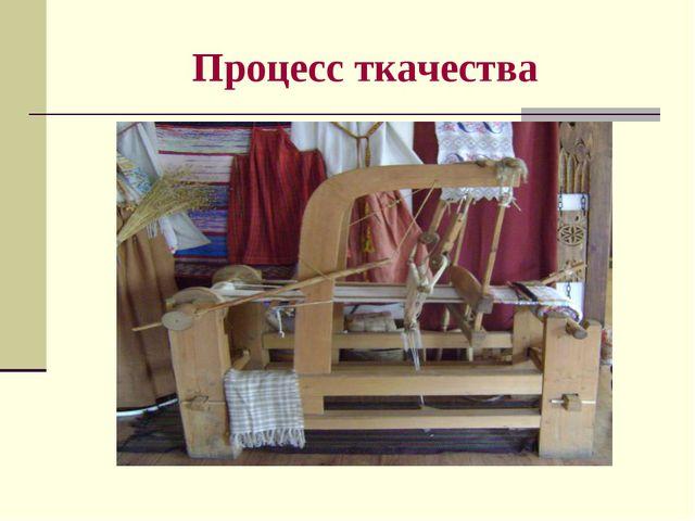 Процесс ткачества
