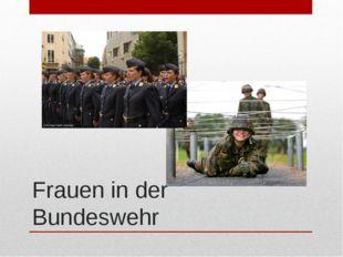 Frauen in der Bundeswehr